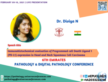 Dr. Diviya N_6thEmirates Pathology & Digital Pathology Conference