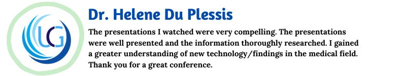 Dr. Helene Du Plessis_UCG Testimonials