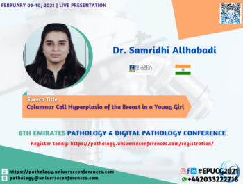 Dr. Samridhi Allhabadi_6thEmirates Pathology & Digital Pathology Conference